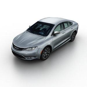 2015 chrysler 200 sedan 3d model