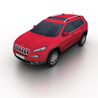 2014 jeep cherokee kl 3d model