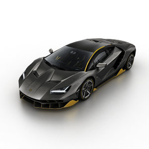 3d model 2016 lamborghini centenario