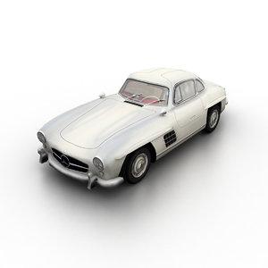 3d 1954 mercedes-benz 300 sl model