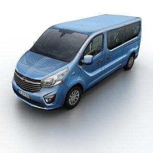 2014 opel vivaro 3d model