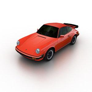 3d 1977 porsche 911 carrera model