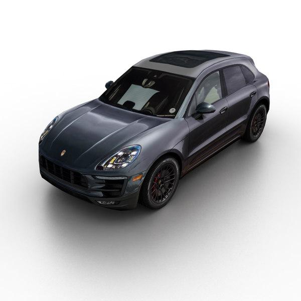 2017 porsche macan turbo 3d model