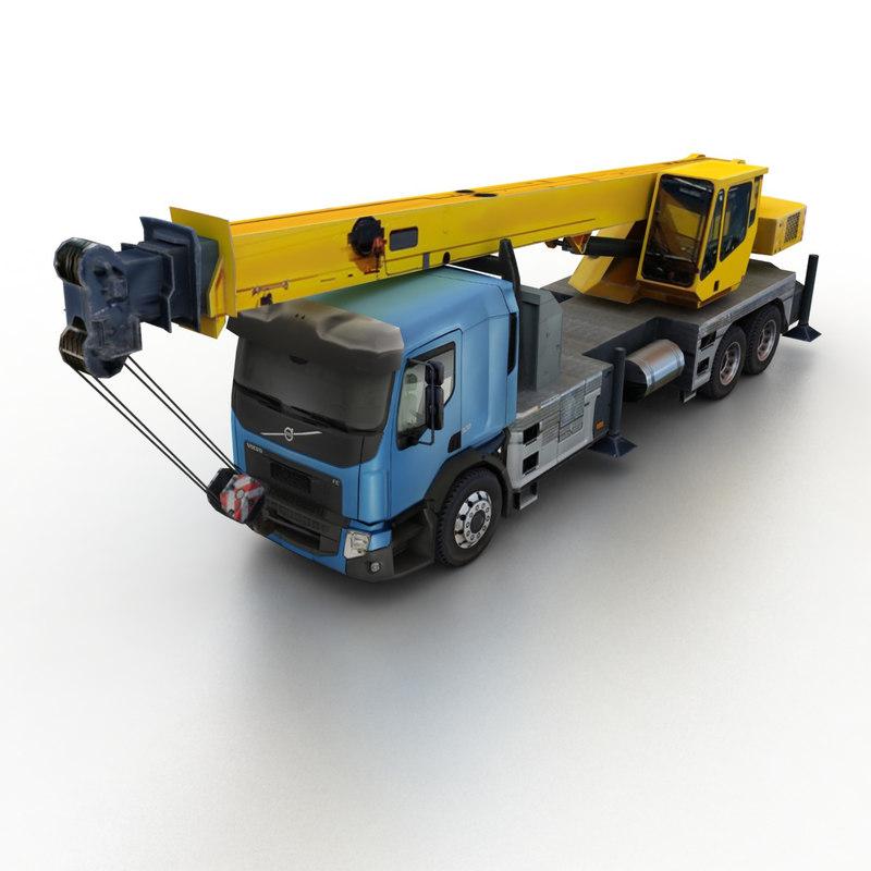 2013 fe crane truck 3d max