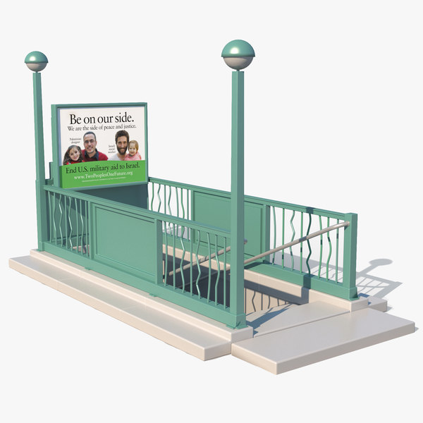 3D nyc subway entrance