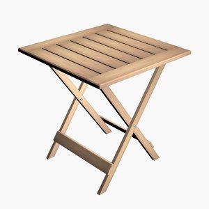 3D folding table model