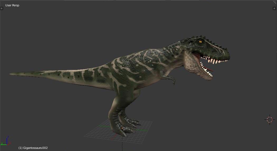3D giganotosaurus dino dinosaur model