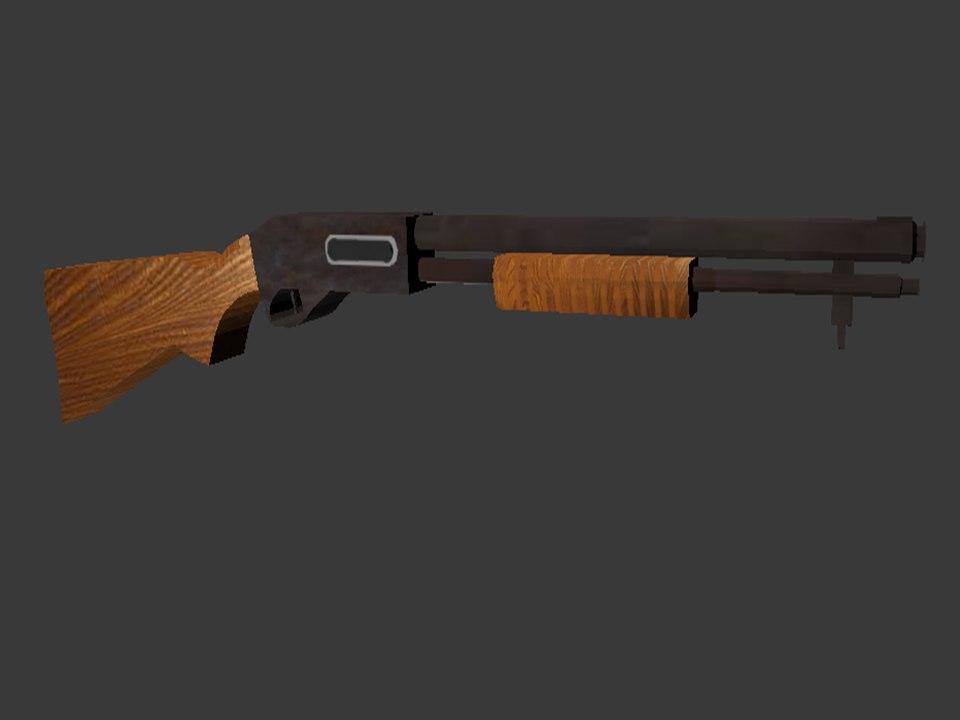 3D armas escopeta rifle model