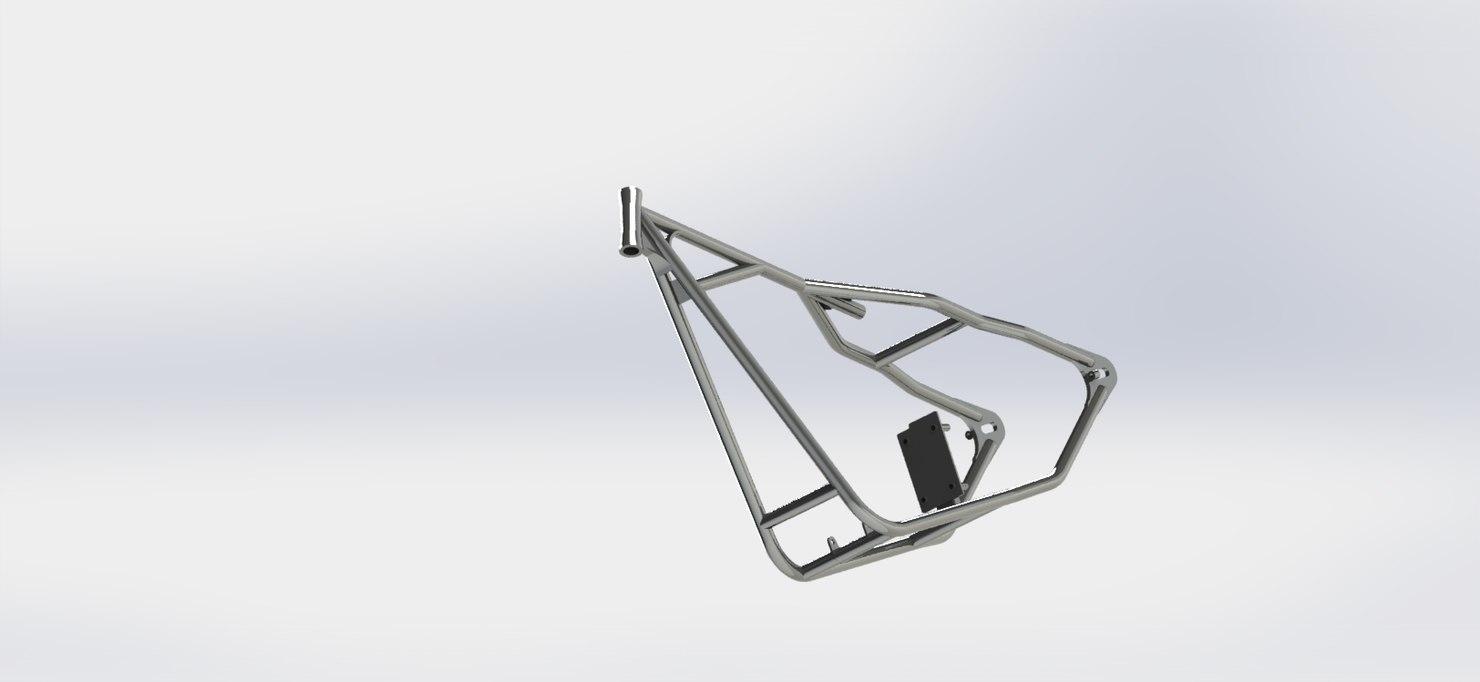 rigid sportster frame 3D model