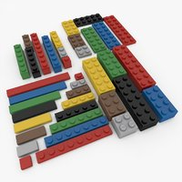 lego bricks 3D model