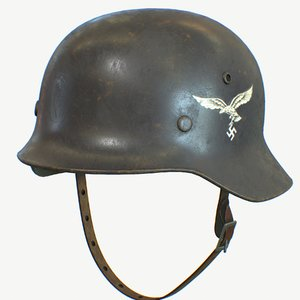 nazi air force helmet 3D