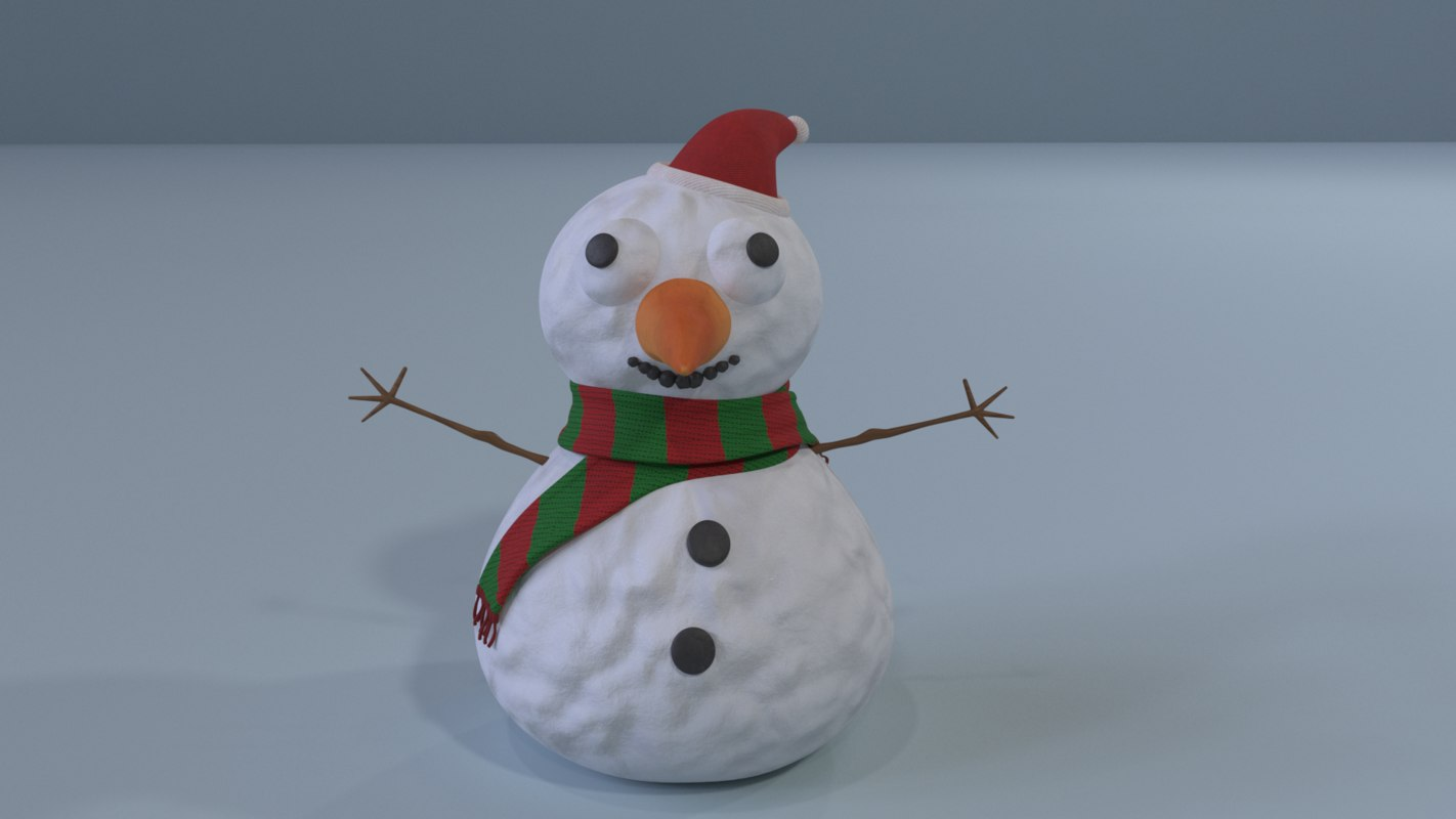 snow snowman model