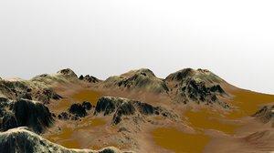 3D mars canyon