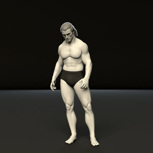 3D rigged humanik
