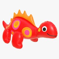 realistic pool toy dinosaur 3D model