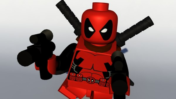3D model lego rig animate