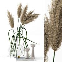realistic vase grass 3D model