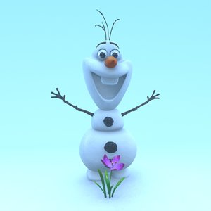 3D model snowman frozen
