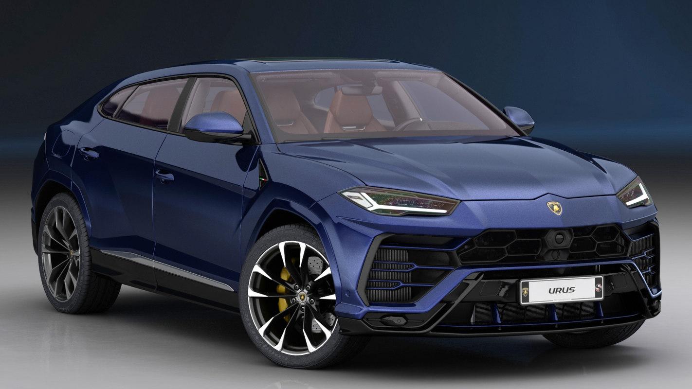 3d Lamborghini Urus 2019 Interior Turbosquid 1348052