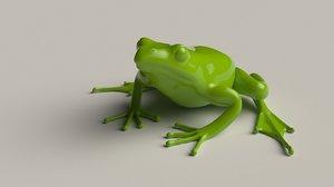 3D frog quads print