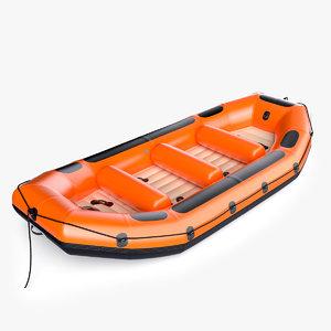 river raft generic 3D