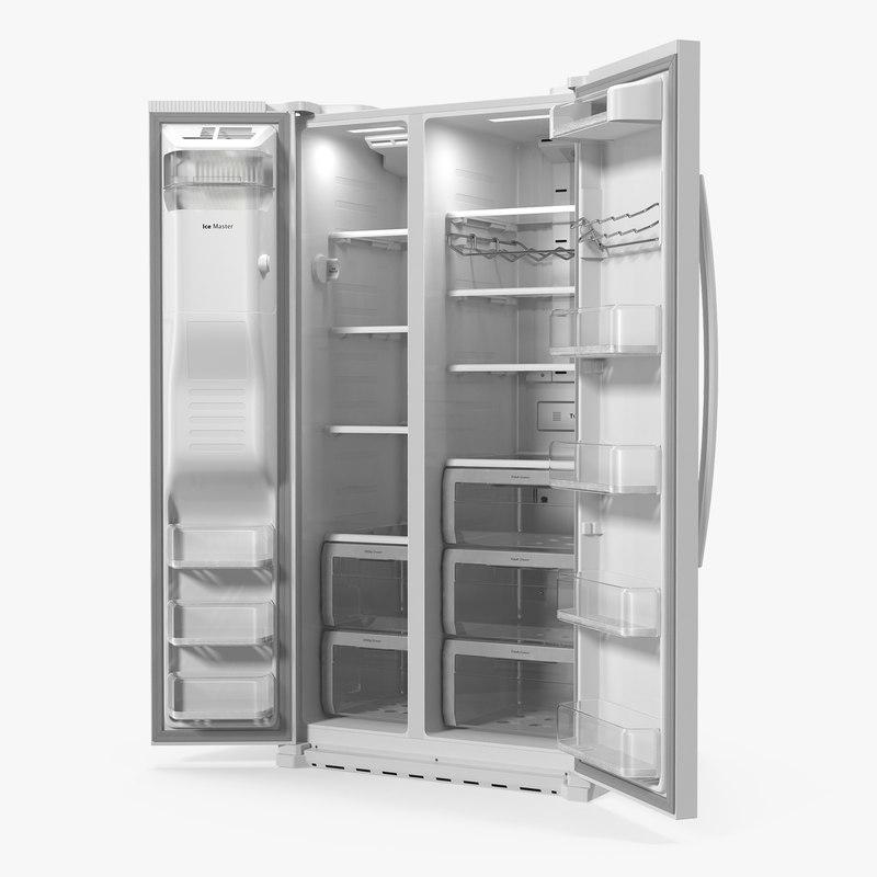 Samsung Side By Side Refrigerator Open
