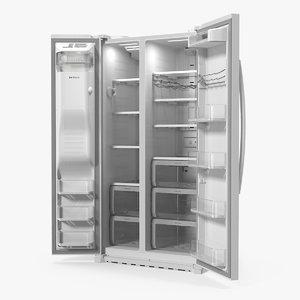 3D samsung refrigerator open