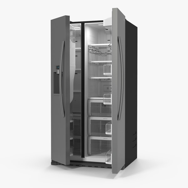 samsung stainless refrigerator 3D model