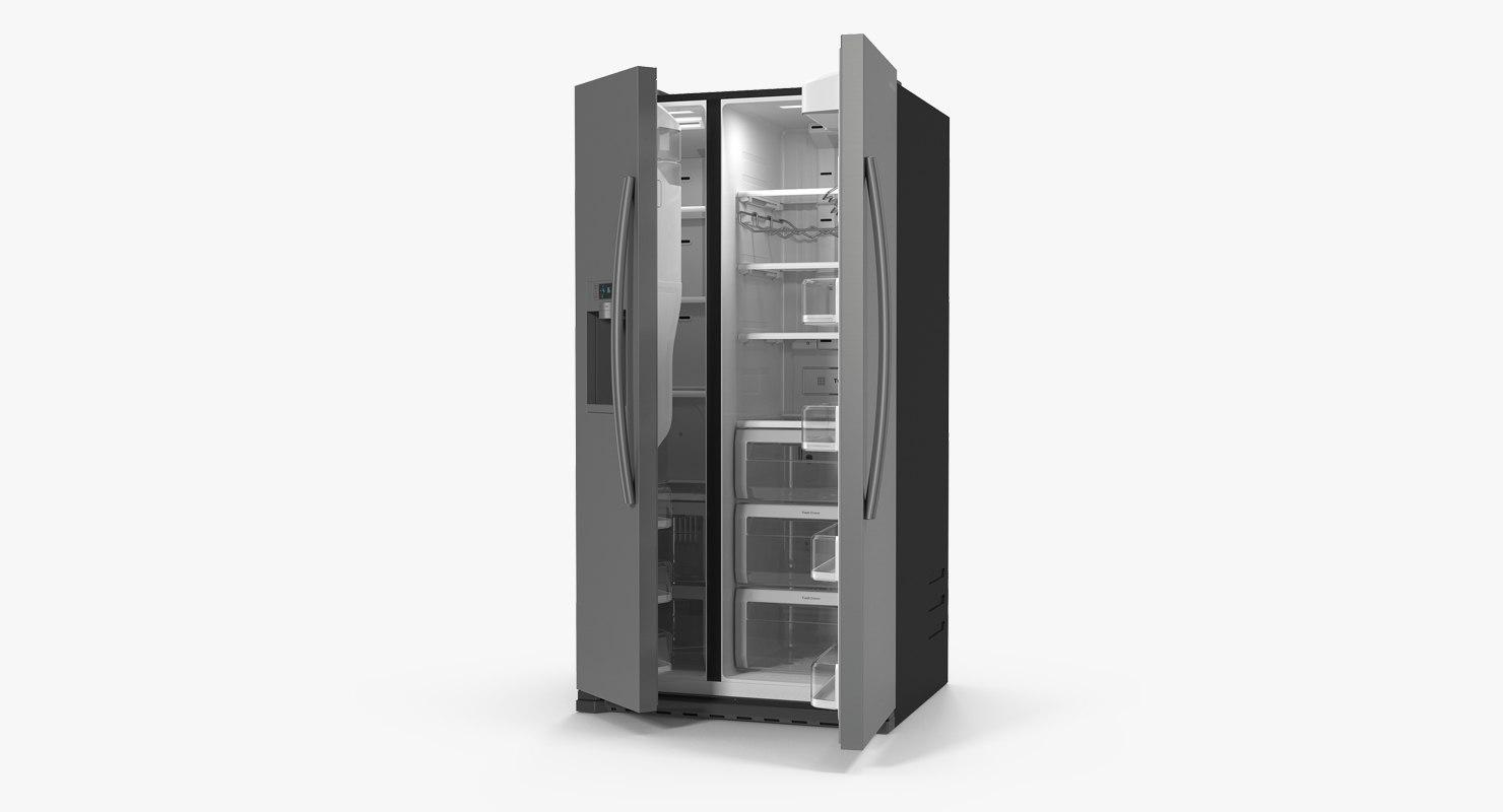 samsung stainless refrigerator 3D model