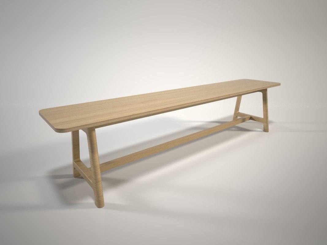 hay bench frame 3D model