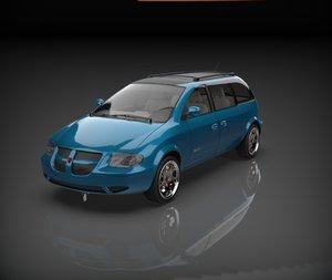 dodge caravan van 3D model