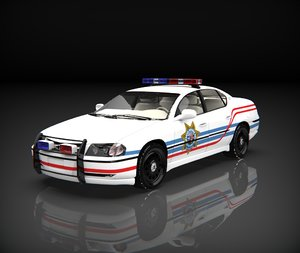 chevrolet impala police 3D model