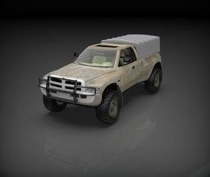 3D model dodge ram army