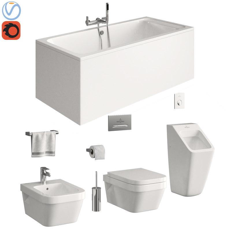 3D toilet villeroy boch model