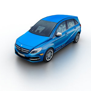 3D 2015 mercedes-benz b-klasse electric model