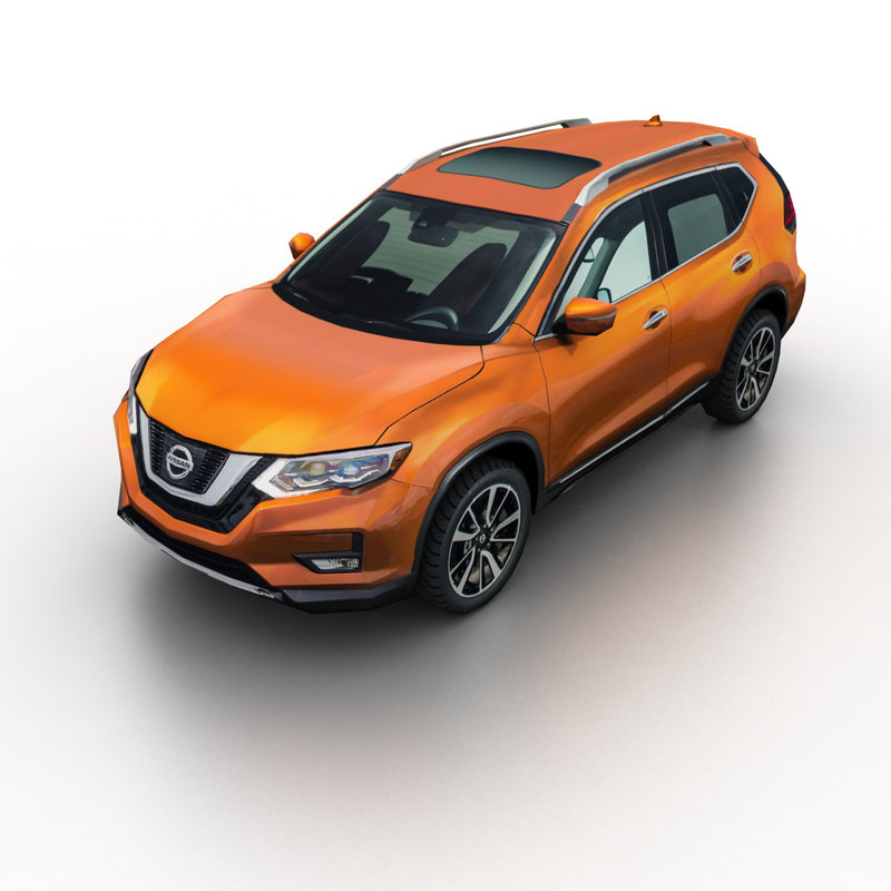 Interior Design Nissan X Trail: 3D 2016 Nissan X-trail Rogue