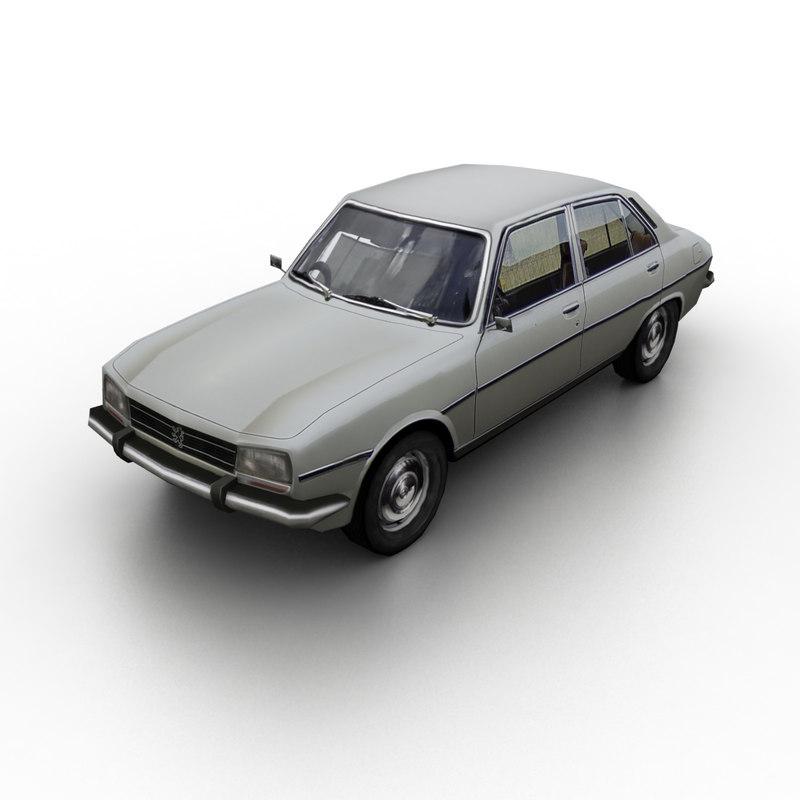 1968 peugeot 504 3D model