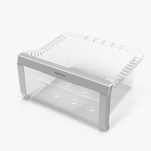 3D refrigerator glass box