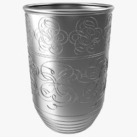 silver cup 3D model