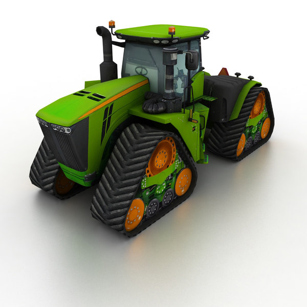 3D green tractor