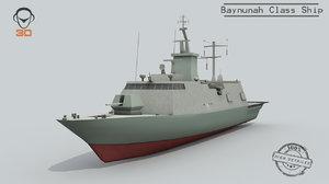3D baynunah class ship
