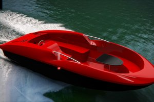 speedboat motorboat 3D model