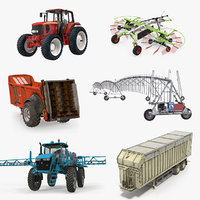 3D farm equipment model