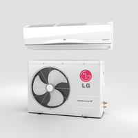 lg air conditioner 3D model