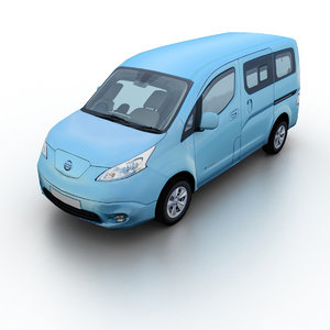 3D 2015 nissan e-nv200 minivan