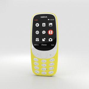 3D nokia 3310 2017 model