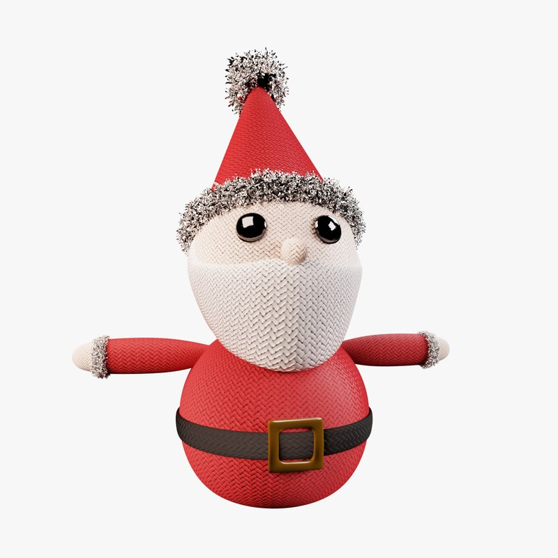 knitted santa christmas decoration model