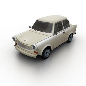 1963 trabant 601 3D model
