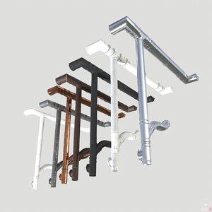 3D pbr gutter materials model