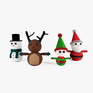 3D knitted christmas decoration model